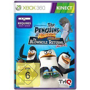 Xbox-360-Spiel-Kinect-Die-Pinguine-aus-Madagascar-Dr-Seltsam-kehrt-zurueck-NEU