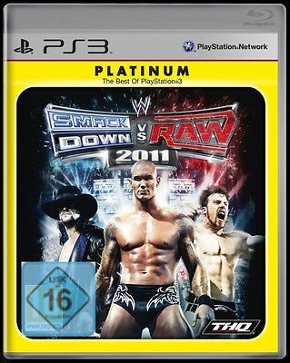 Sony-Playstation-3-Spiel-Wrestling-WWE-Smackdown-vs-Raw-2011-11-Platinum-Neu