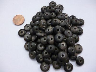 Sonderangebot Hornperlen grün 100 Stück 7 mm zum Basteln