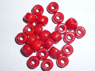 10 x Crow-Beads Crow 6 mm rot opak Indianerperlen