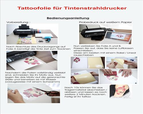 tattoo folie kerzen folie fingernageldesign kerzendesign inkjet laser copy ebay. Black Bedroom Furniture Sets. Home Design Ideas