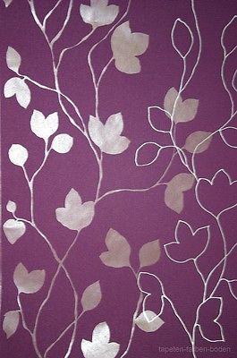 Blumen vlies tapete violett rasch 770247 neu ebay for Tapete violett