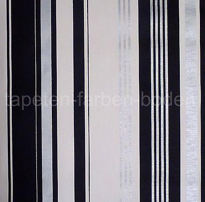 streifen tapete schwarz silber wei rasch 882308 neu. Black Bedroom Furniture Sets. Home Design Ideas