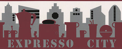 Expresso-City - Bordüre - Vlies - grau, weiß, rot - A.S. Creation 2378-11 -  NEU
