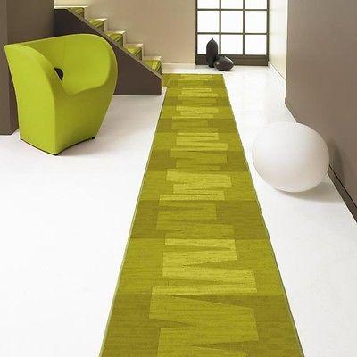 Teppich läufer grün  Velour Teppich Läufer *VISION 21 grün* 67 cm breit NEU rutschfest ...