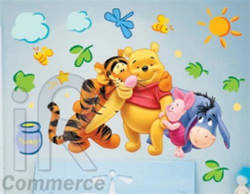winnie pooh xl winniepooh wandtattoo wandsticker wandaufkleber ebay. Black Bedroom Furniture Sets. Home Design Ideas