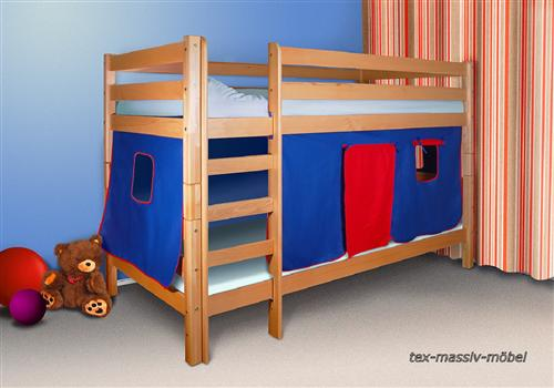 spielbett etagenbett hochbett buche massiv oli 2 inkl 2. Black Bedroom Furniture Sets. Home Design Ideas