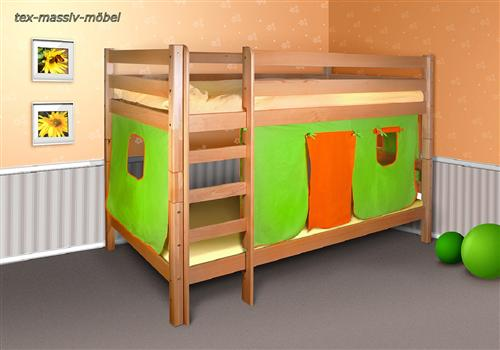 spielbett etagenbett hochbett buche massiv oli 2 ohne rollroste ebay. Black Bedroom Furniture Sets. Home Design Ideas