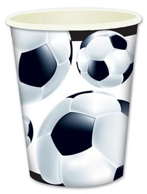 fussball party set geschirr dekoration schwarz wei sport. Black Bedroom Furniture Sets. Home Design Ideas
