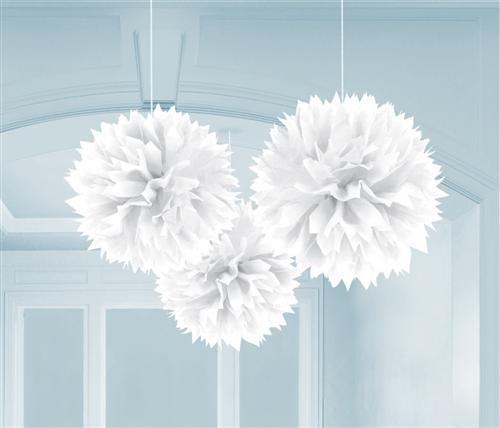 party deko weiss papier laterne f cher girlande pompom hochzeit geburtstag ebay. Black Bedroom Furniture Sets. Home Design Ideas