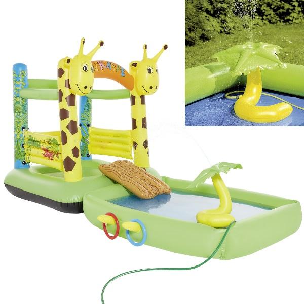 kinder h pfburg giraffe planschbecken mit rutsche und zubeh r spiel pool ebay. Black Bedroom Furniture Sets. Home Design Ideas