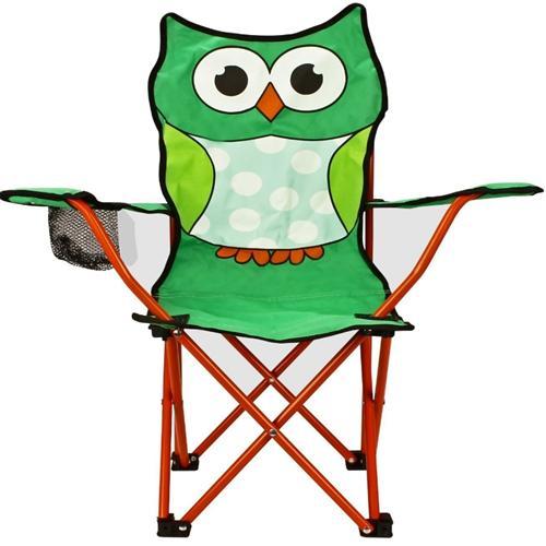 kinder klappstuhl eule camping stuhl mit becherhalter. Black Bedroom Furniture Sets. Home Design Ideas