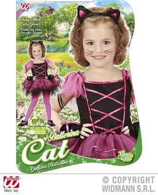 ballerina katze gr e 110 kinder kost m f r m dchen katzenkost m haarreif ebay. Black Bedroom Furniture Sets. Home Design Ideas