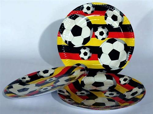 DEUTSCHLAND DEKO FAN ARTIKEL Fussball  Party  EM WM Teller Becher Ballons