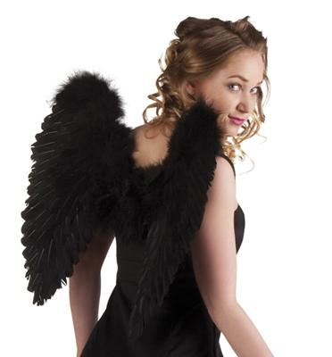 ENGELSFLÜGEL FEDERN 50 x 50 cm Flügel Kostüm Engel Fantasie Märchen Fasching