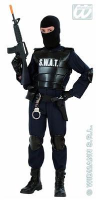 SWAT-Undercover-Agent-Polizist-Kinder-Kostuem-Polizei-AUSWAHL-128-140-158