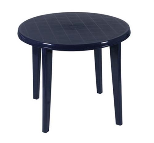 vollkunststoff tisch lisa gartentisch 90 cm rund blau tisch aus kunststoff ebay. Black Bedroom Furniture Sets. Home Design Ideas