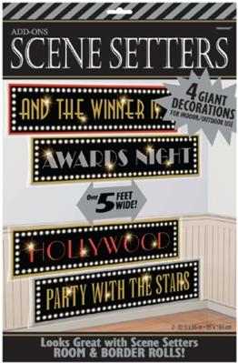 hollywood party set motto party deko geburtstag film party ebay. Black Bedroom Furniture Sets. Home Design Ideas