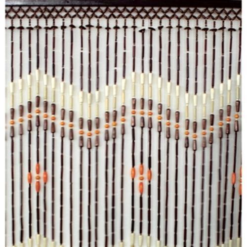 perlenvorhang holzperlen bambusr hrchen 100x200 cm bambus t r vorhang ebay. Black Bedroom Furniture Sets. Home Design Ideas