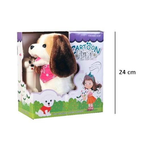 Spielzeug ferngesteuerter plüschhund der hund läuft und