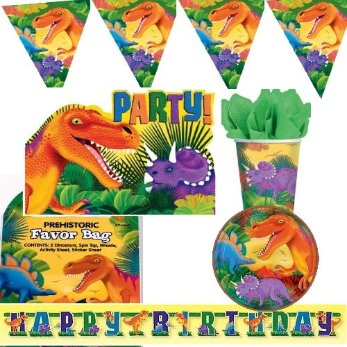 Dino party kindergeburtstag motto dinosaurier dekoration for Kindergeburtstag party set