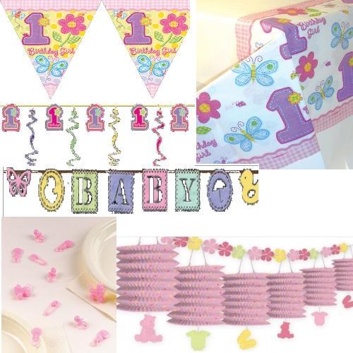 geburt m dchen dekoration party baby shower rosa deko feier geburtstag ebay. Black Bedroom Furniture Sets. Home Design Ideas