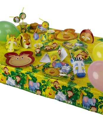 safari party dschungel deko kindergeburtstag motto geburtstag tiere jungle zoo ebay. Black Bedroom Furniture Sets. Home Design Ideas