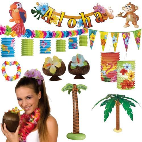 hawaii deko party riesenauswahl strandparty motto strand beach set ebay. Black Bedroom Furniture Sets. Home Design Ideas