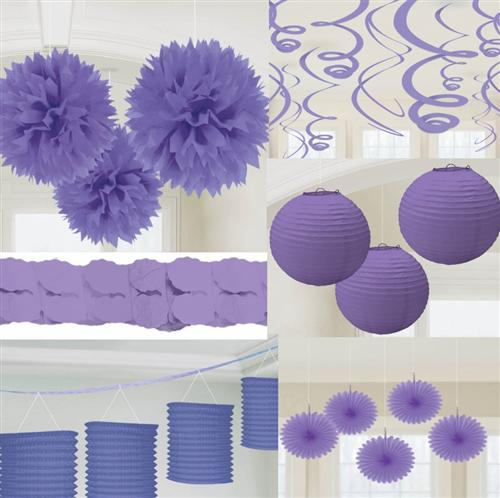 party deko violett papier laterne f cher girlande pompom hochzeit geburtstag ebay. Black Bedroom Furniture Sets. Home Design Ideas