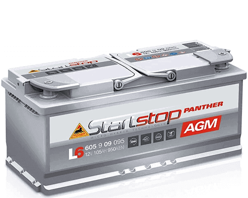 Starterbatterie Panther Start-Stop AGM 12V 105Ah 950A