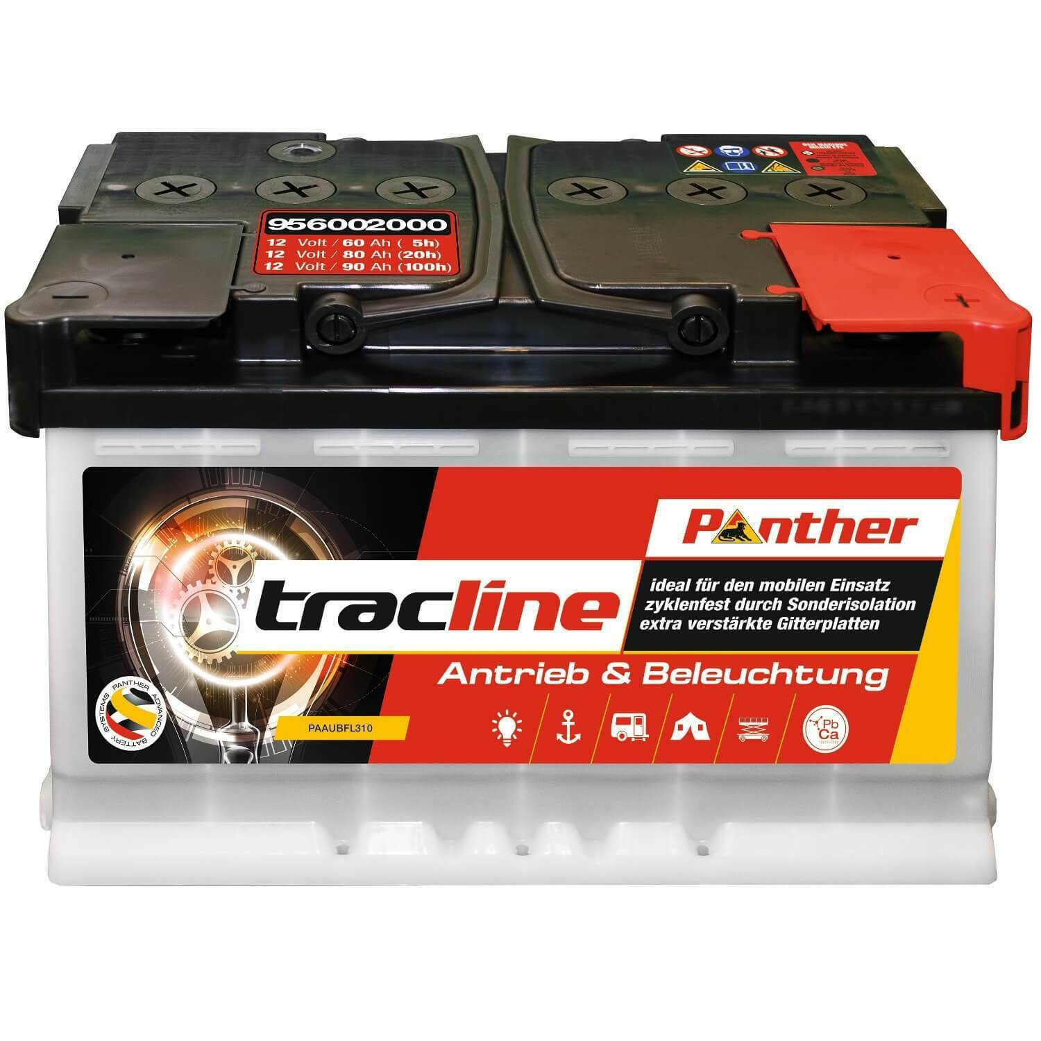Panther tracline 12 V / 90 Ah (C20) 95752 zyklenfest