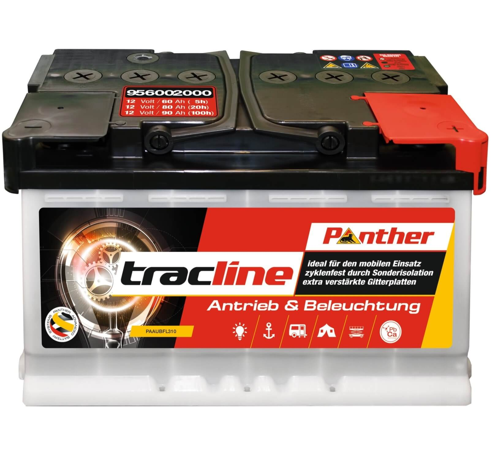 Panther tracline 12 V / 60 Ah (C20) 95602 zyklenfest