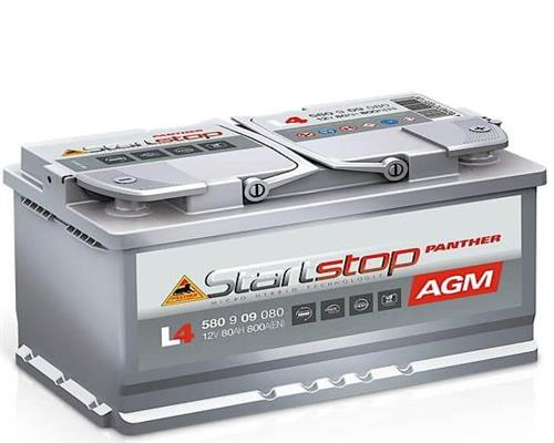 Starterbatterie Panther Start-Stop AGM 12V 80Ah 800A