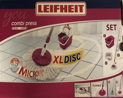Leifheit Combi Press Disc Mop XL Set Bodenwischer Wischmop 52054