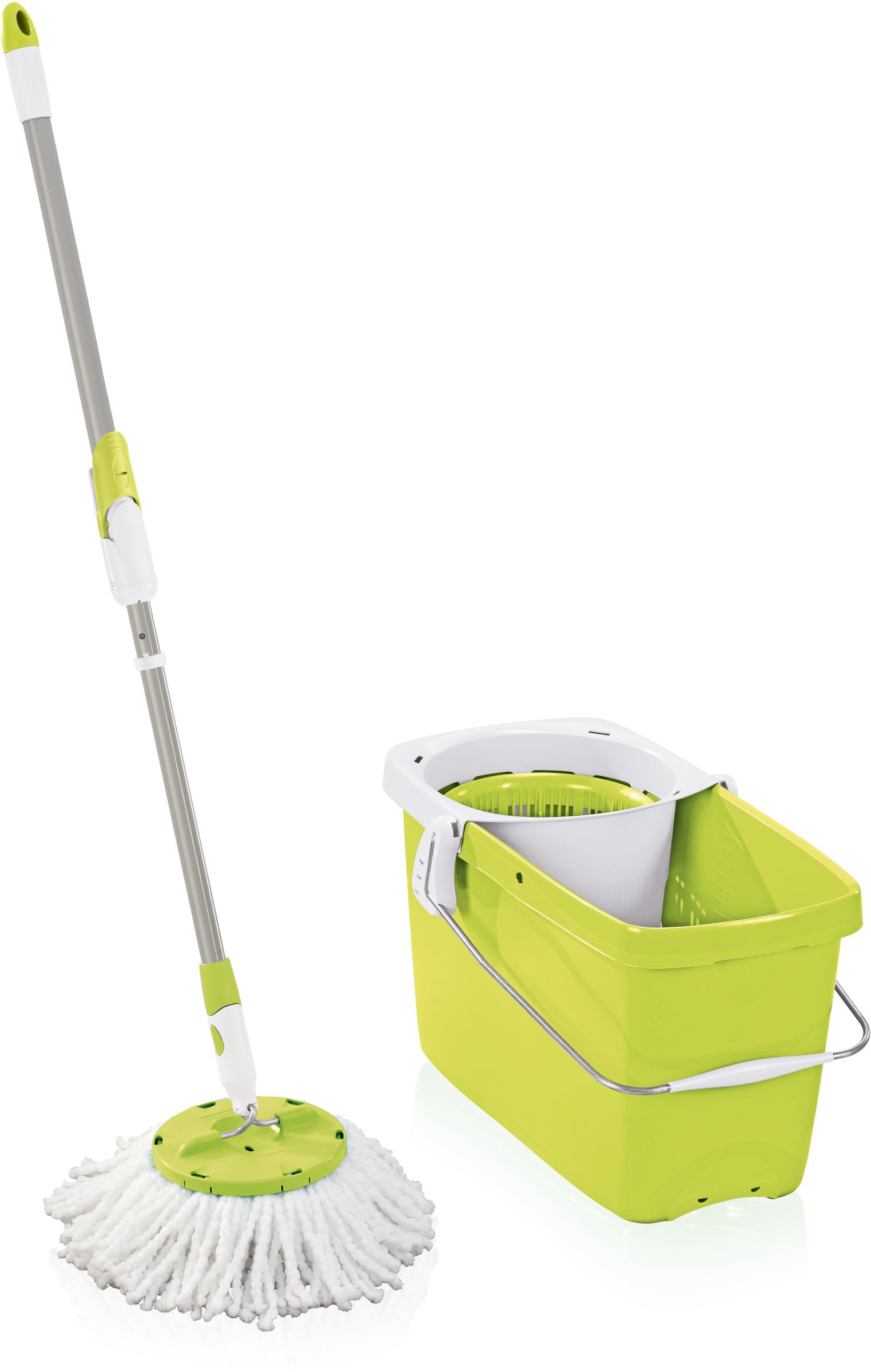 Leifheit Set Clean Twist Mop green Bodenwischer Wischmop 52077
