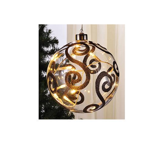 Beleuchtete Weihnachtskugeln.Beleuchtete Led Weihnachtskugeln 15 Cm Aus Glas 76140 Design 1