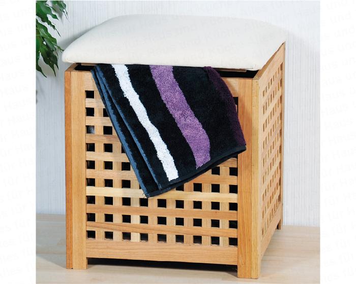 kesper w schebox mit sitzkissen walnussholz 28007 w schekasten hocker. Black Bedroom Furniture Sets. Home Design Ideas