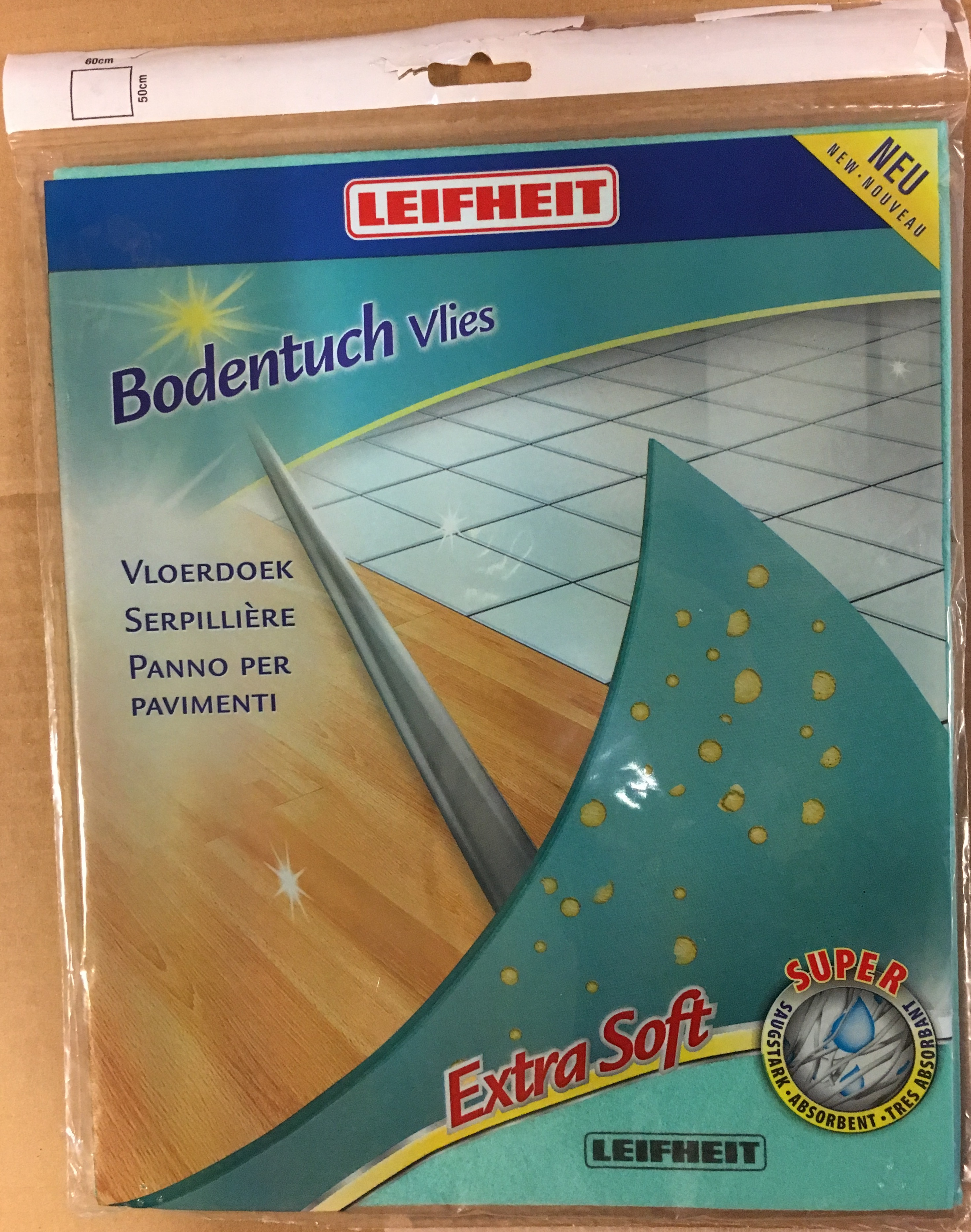 Leifheit Bodentuch Vlies extra soft super saugstark 40008