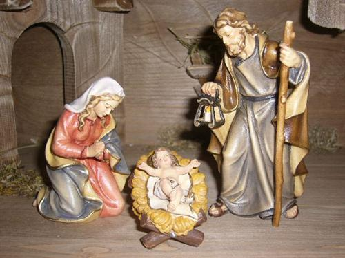 mahlknecht krippenfiguren heilige familie serie 16cm holz color ebay. Black Bedroom Furniture Sets. Home Design Ideas
