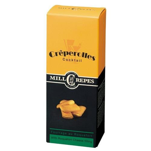 100g Millcrepes Creperolles Roquefort Filled cheese biscuits Käsegebäck