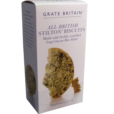 100g All British Stilton Biscuits Blue Stilton Kekse aus England