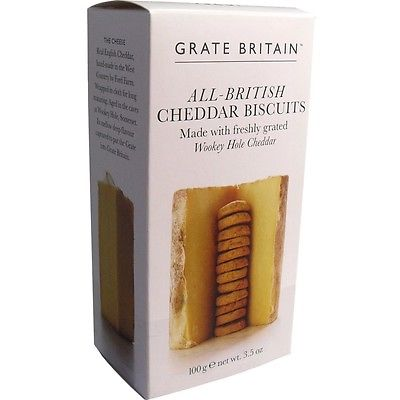 100g All British Cheddar Biscuits Cheddar Kekse aus England