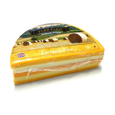Cheddar Käse Five Farmhouse Cheeses fünf Käsesorten Farmers Five 300g