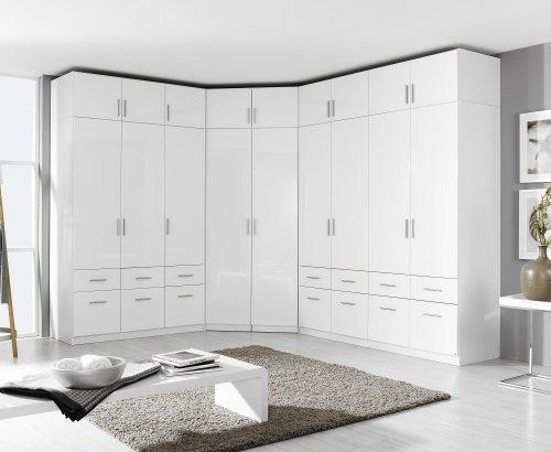 eckschrank schrank kleiderschrank aufsatz weiss hochglanz neu ebay. Black Bedroom Furniture Sets. Home Design Ideas
