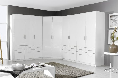 eckschrank schrank kleiderschrank schlafzimmer weiss. Black Bedroom Furniture Sets. Home Design Ideas
