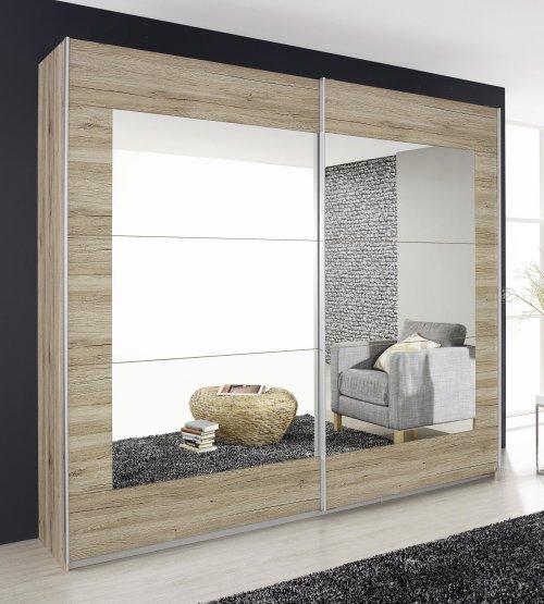 schwebet renschrank 2 trg b 226 cm spiegel schlafzimmer eiche sanremo hell neu ebay. Black Bedroom Furniture Sets. Home Design Ideas