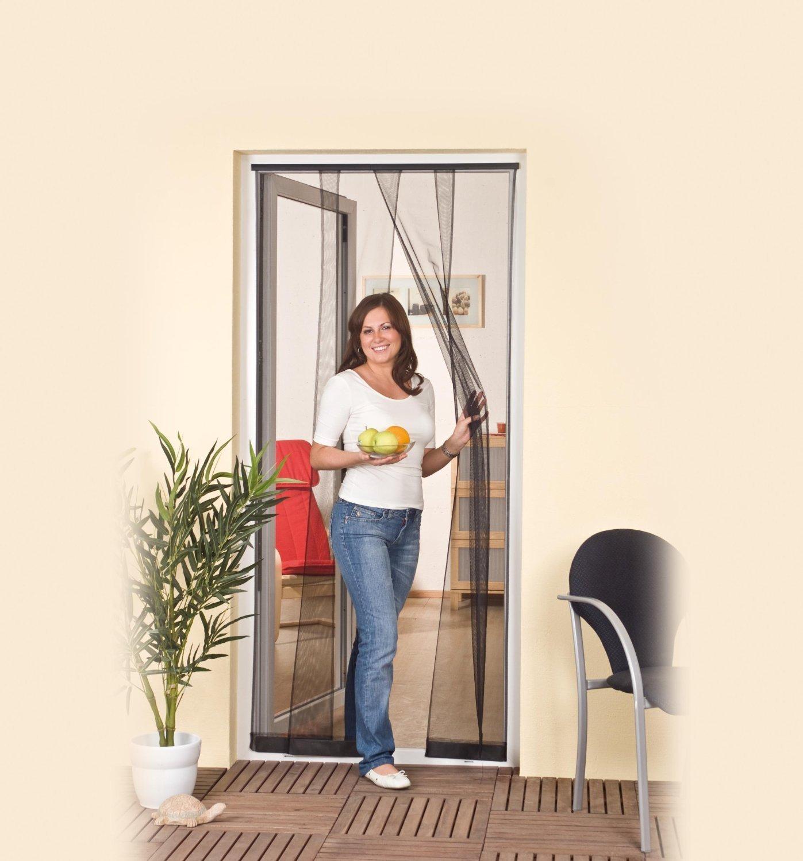 purework lamellenvorhang 100x220cm insektenschutzt r fliegengitter m ckenschutz ebay. Black Bedroom Furniture Sets. Home Design Ideas