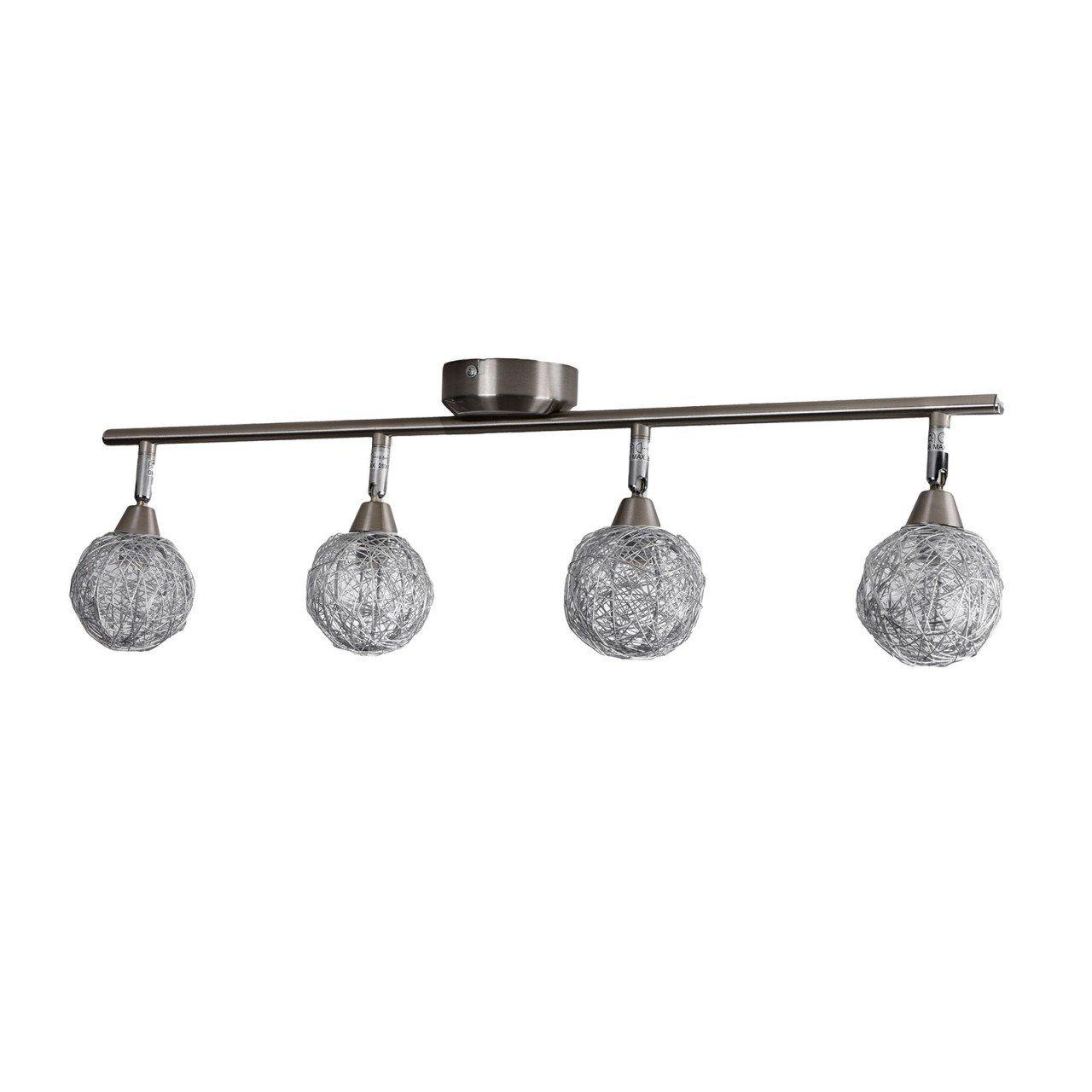 4halogen deckenschiene deckenlampe lampe deckenleuchte 4. Black Bedroom Furniture Sets. Home Design Ideas