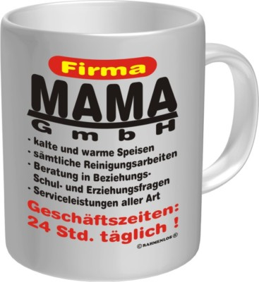 tasse fun kaffeebecher firma mama gmbh becher spr che ebay. Black Bedroom Furniture Sets. Home Design Ideas