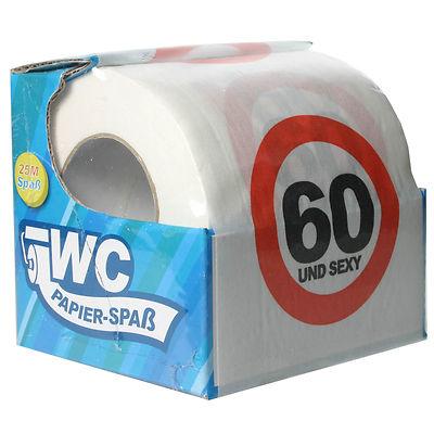 toilettenpapier witzig 60 und sexy wc klopapier spr che fun zum 60 geburtstag ebay